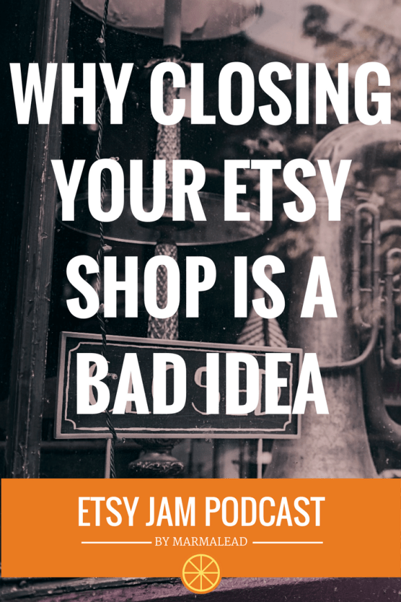 In this episode, we discuss how to know when you should close your Etsy shop. When is the best time to move on? What do you need to focus on when you do? And how much traffic drives past the end of your driveway? Find out next on Etsy Jam!