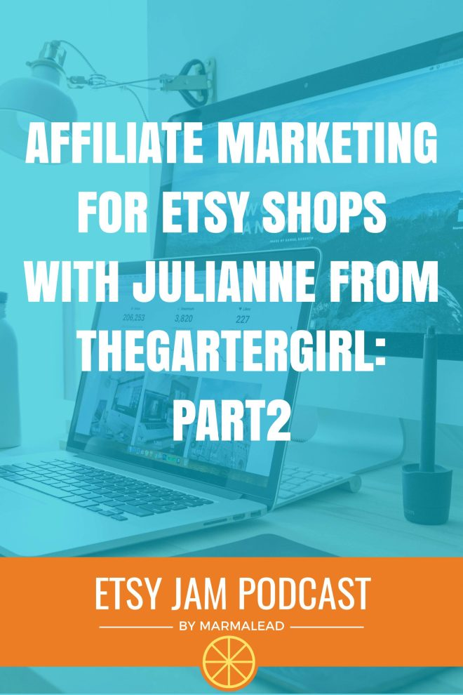 Are you taking advantage of this GREAT opportunity that Etsy provides to all sellers free of charge? With about 30 million active shoppers, Etsy brings a huge audience to your doorstep if your SEO is lined up, but if you want to go above and beyond and pull in even MORE customers, Julianne from TheGarterGirl is here to tell you exactly how you can make that happen. Read on to learn all you can about Etsy affiliate marketing in this week's Etsy Jam!