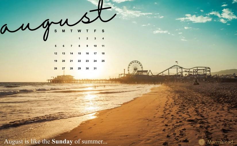 free desktop august calendar Marmalead