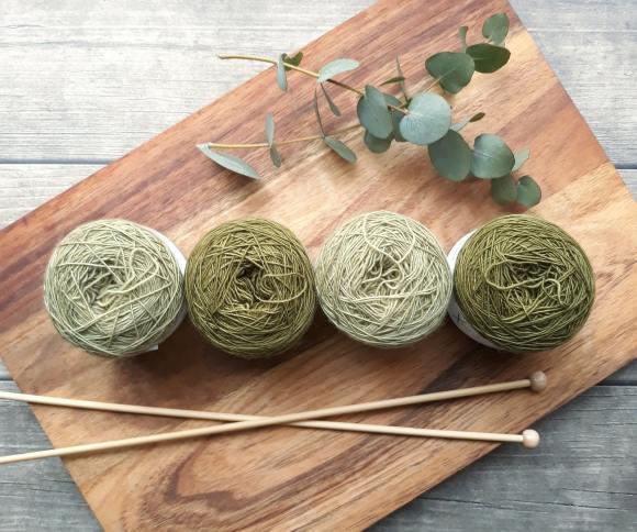 green yarn on board