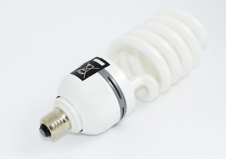 Fluorescent light bulb to save home energy