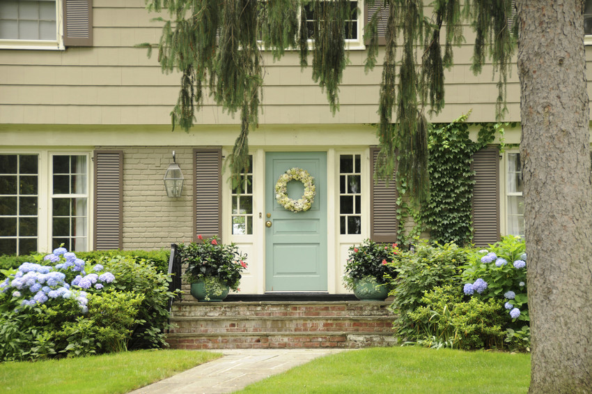 replacing the front door is a home improvement with the best return