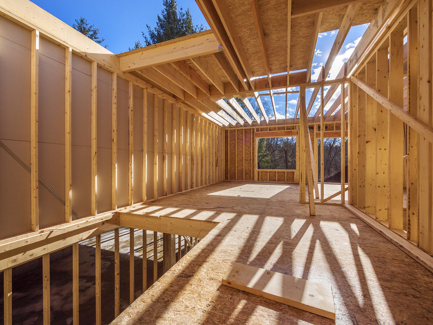 unfinished home being built in erie