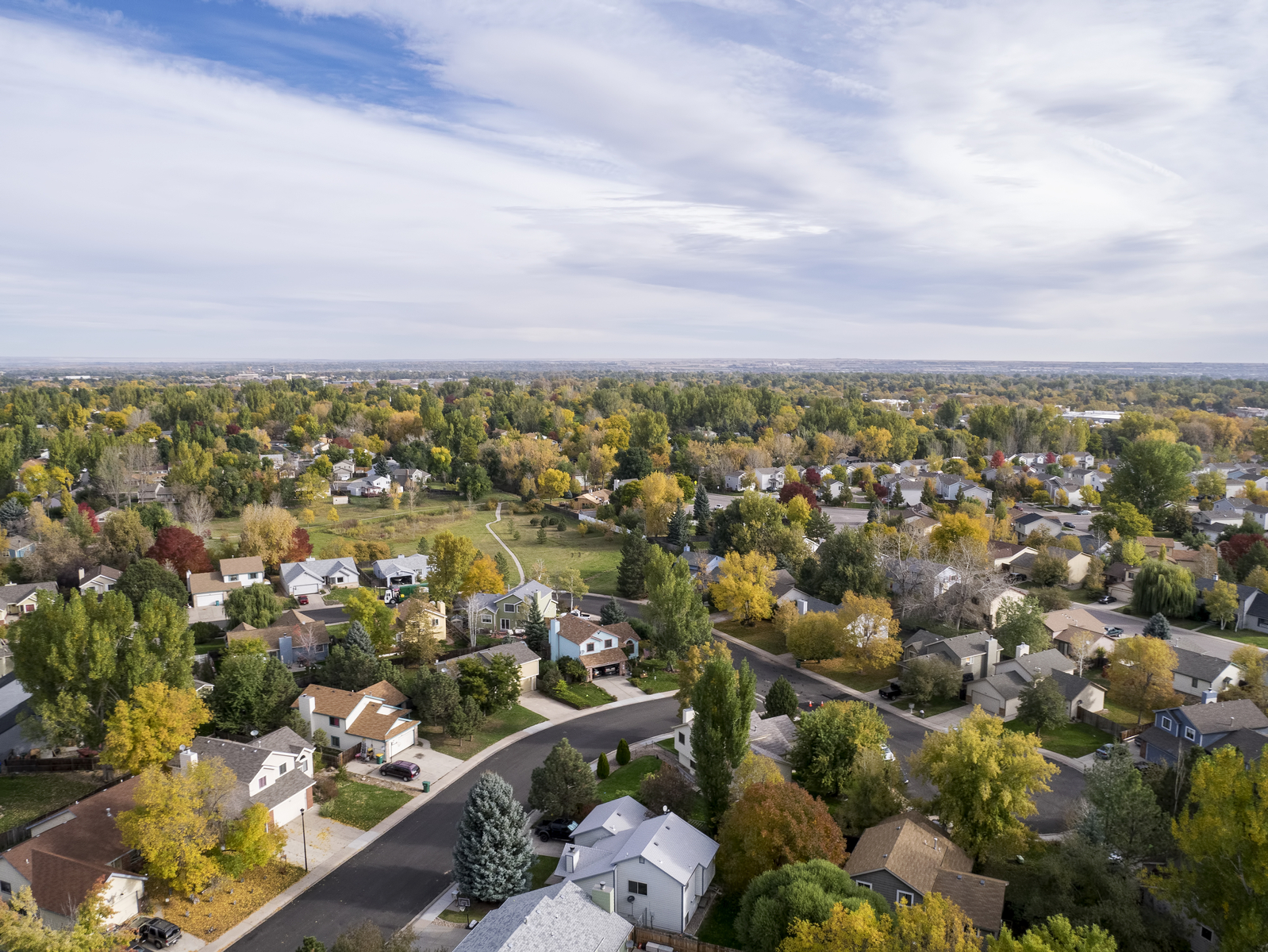aerial view of millcreek and other erie spotlight communities