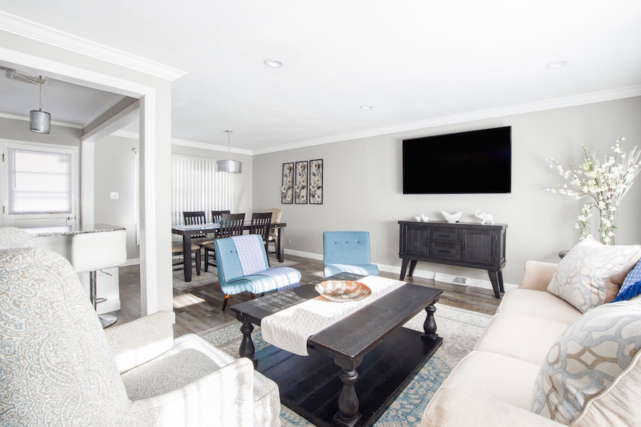 Rearrange your furniture while selling your home