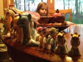 Chloe 2013 My Little Pony in a line