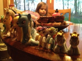 Chloe 2013 My Little Pony in a line