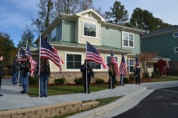 CASA's Denson Apartments for Veterans in Raleigh-Durham, NC and American flags