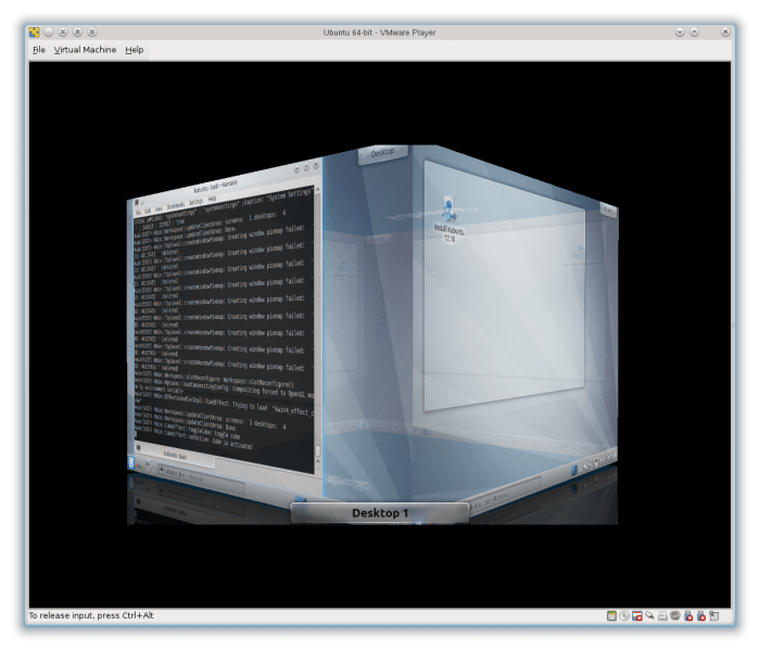 KWin with OpenGL in VMWare player