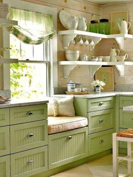 Espectacular cocina con mobiliario en Verde, ¡Cámbiala yá!, ¿a que esperas?