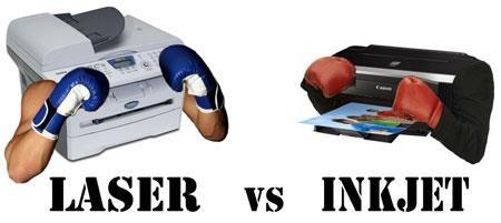 laser vs tinta