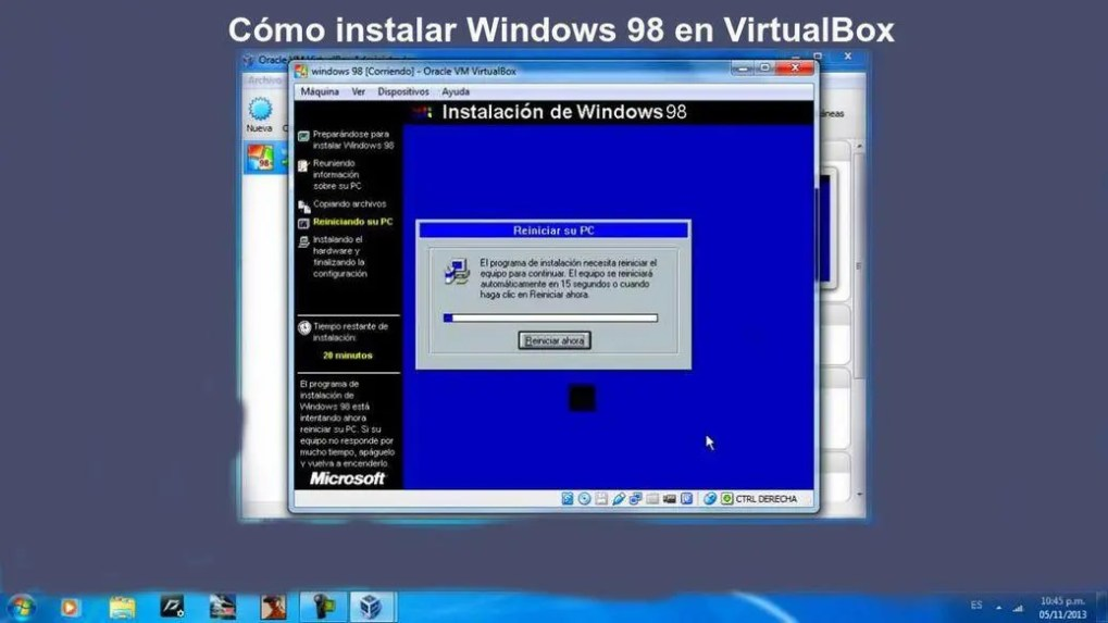 How to install Windows 98 in VirtualBox, very explained