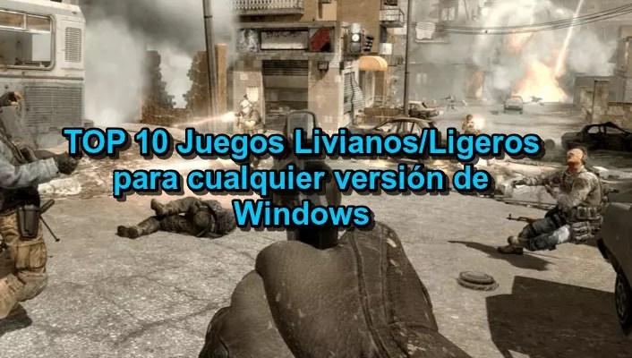 Hablemos de juegos livianos/ligeros para PC: te presentamos un TOP de los10 juegos para Windows 7, 8, 8.1 o 10 de pocos requisitos. ¡ENTRA!