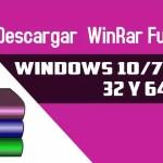 Podrás ⭐ DESCARGAR WINRAR ✅ normal y Portable para cualquier WINDOWS de 64 o de 32 BITS totalmente GRATIS y FULL. ⭐ ¡ENTRA!
