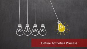 The 3 Major Outputs of Define Activities Process