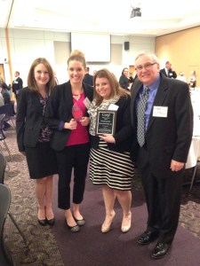 Lindsay, Meaghan, Rachel, and Bill... taking home the overall digital honoree!
