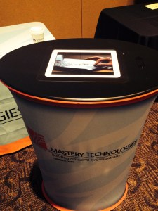 Our iPad display counter, a new addition to our trade show products.