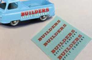 Matchbox  - 60a Morris J2 Pickup 'Builders Supply Company' Labels