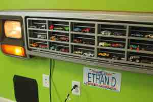 Vehicle grille display - perfect for the man cave