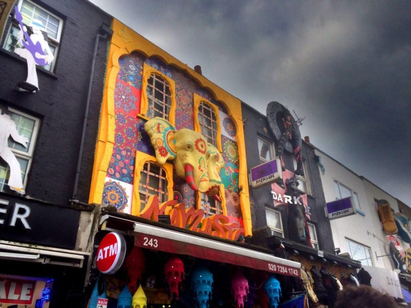 Camden Townin arkkitehtuuria.
