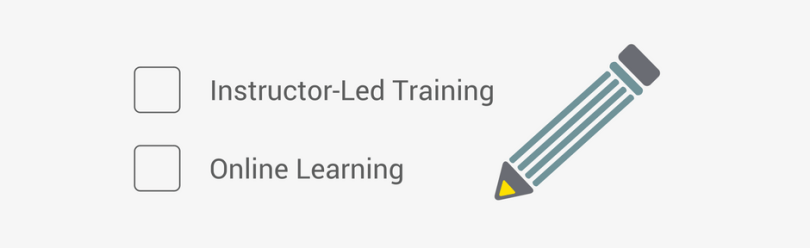 Instructor-led training; Online learning