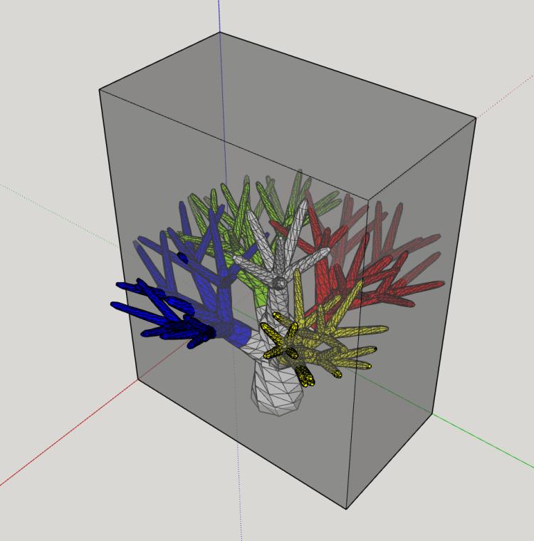 SketchUp Baum Druckbereich