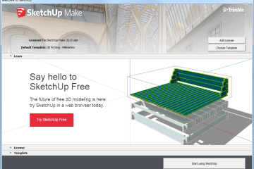 Sketchup Startup Window