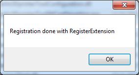 STL Thumbnails Registrierung erfolgreich via Register