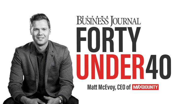 MaxBounty CEO Matt McEvoy Receives Forty Under 40 Award