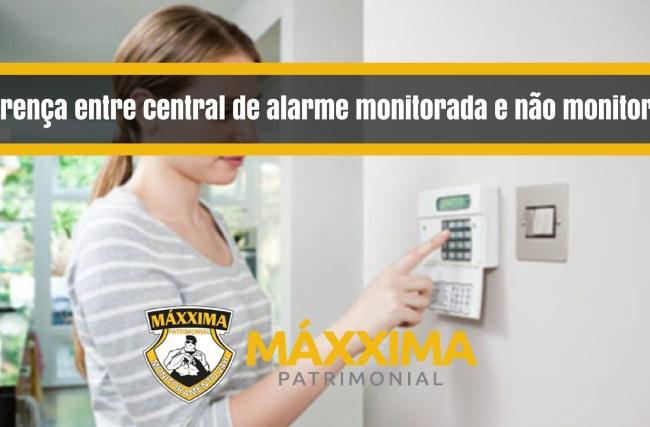 Diferença entre central de alarme monitorada e não monitorada