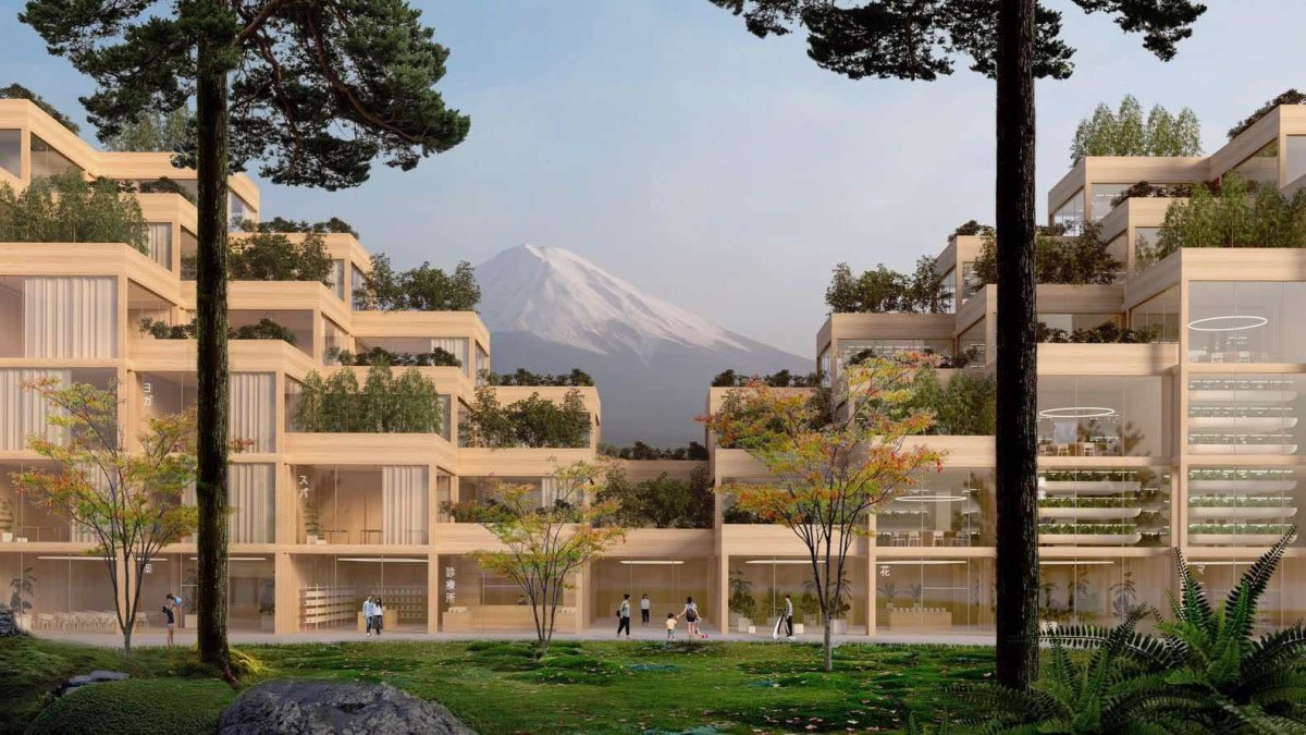 Ville futuriste Japon