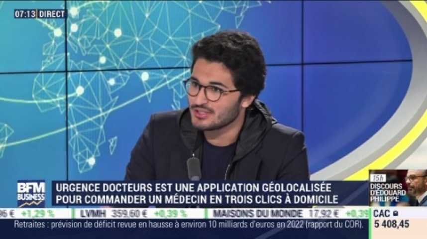 Interview de Mike Meimoun sur BFM Business, CEO d'Urgence Docteurs