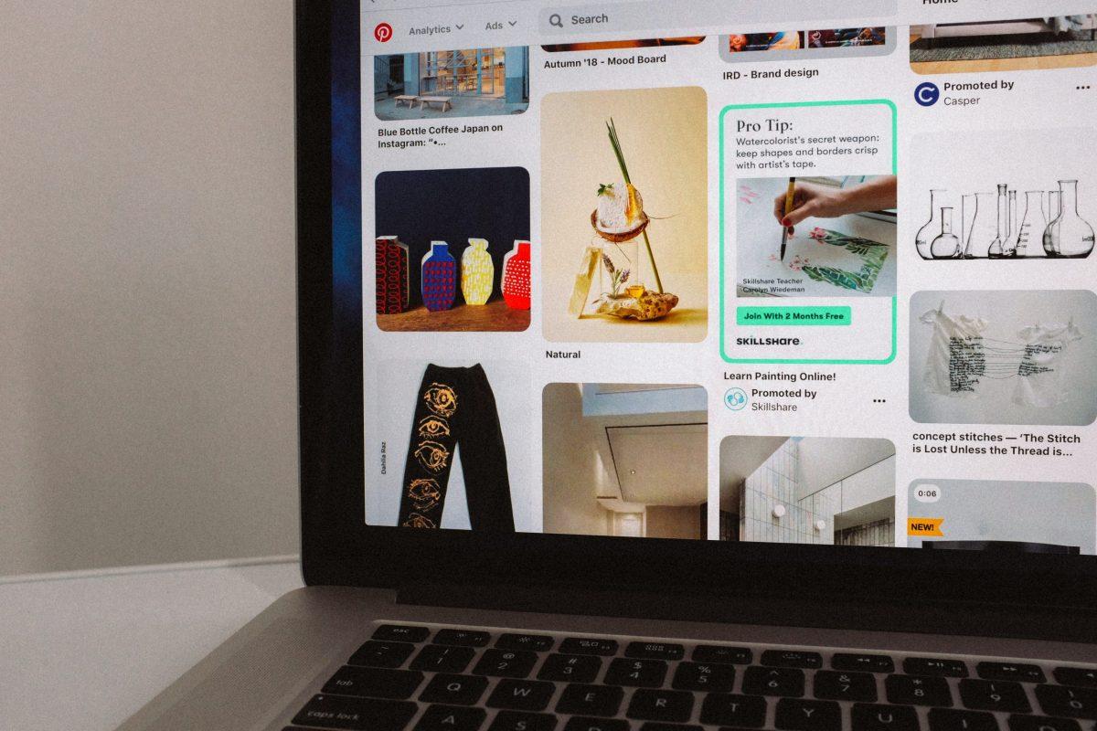 Page du réseau social Pinterest