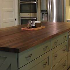 Black Kitchen Islands Orange Wallpaper Walnut Island Mcclure Block Butcher