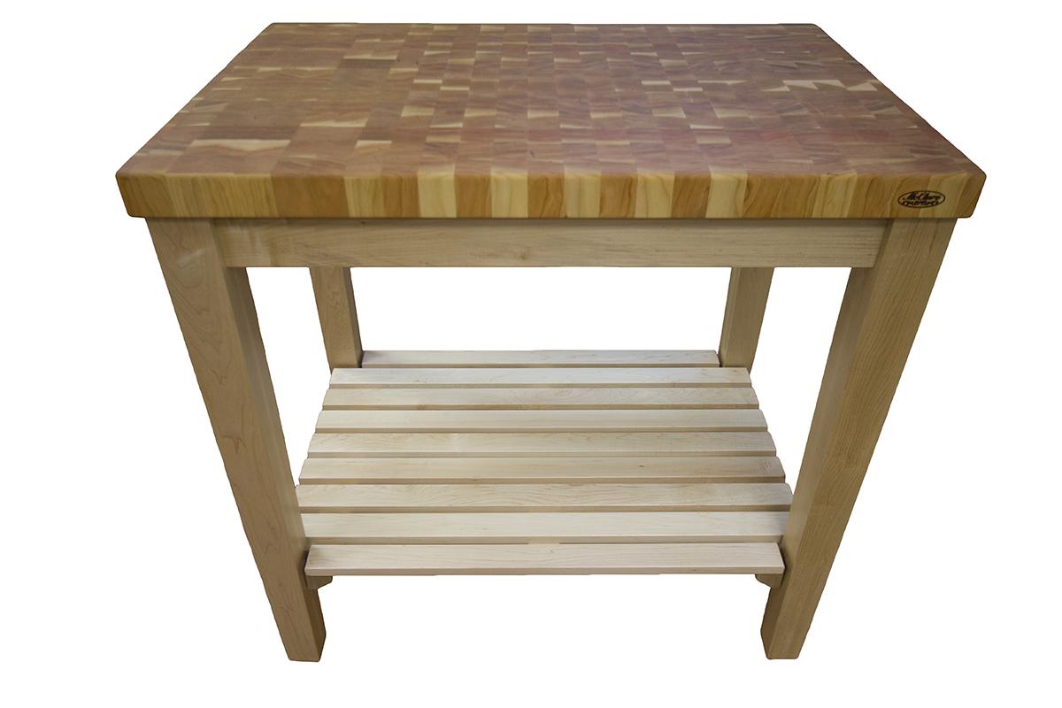 cherry kitchen cart kits end grain butcher block maple island mcclure blog mcclureblock cherryendmaplecart 300x300