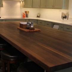 Wood Top Kitchen Island Brushed Nickel Faucets Black Walnut - Mcclure Block Butcher ...