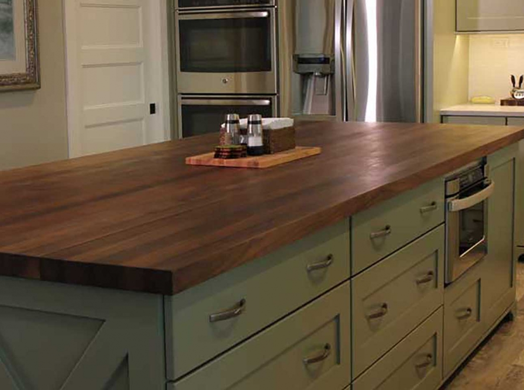 counter top kitchen table sets moen faucets lowes home - mcclure block butcher and hardwood ...