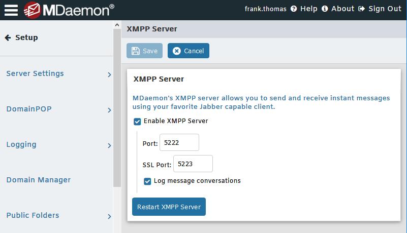 Mensajería instantánea segura - Servidor de correo electrónico MDaemon