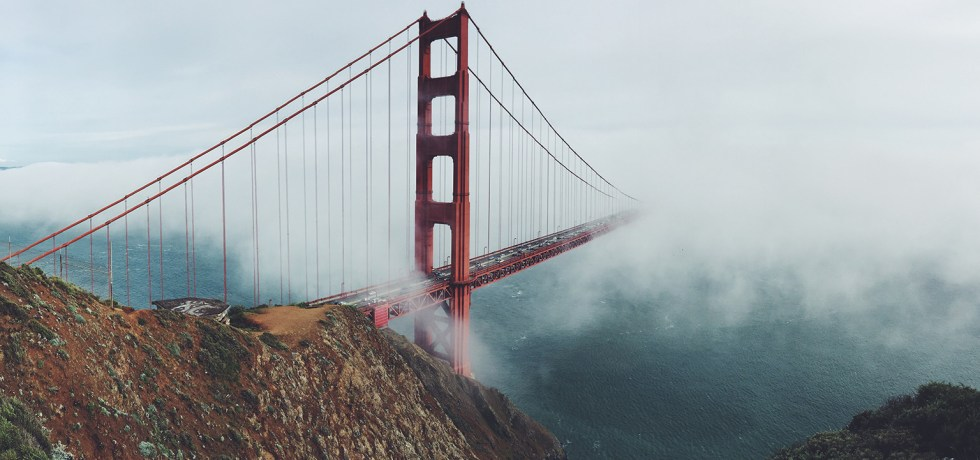 Mist covering the Golden Gate bridge