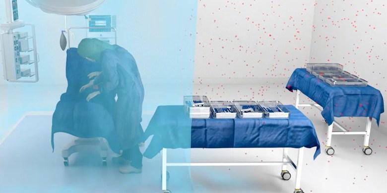 Traitement de l'air en salle d'opération