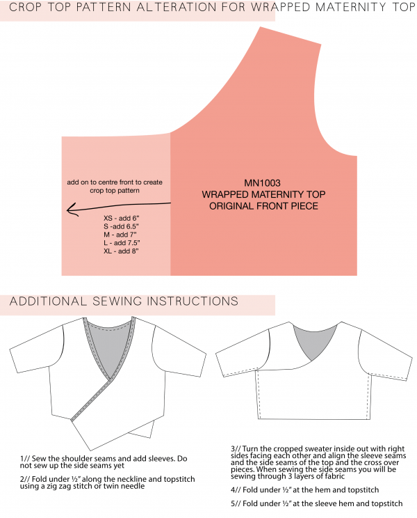 Pattern Crop Top : pattern, Pattern, Alteration, Wrapped, Maternity, Megan, Nielsen, Patterns