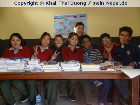 Schüler in Nepal muss man sein….