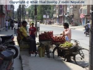 Auch in Pokhara kommt es zu häufigen Streiks, die das Alltagsleben lähmen.