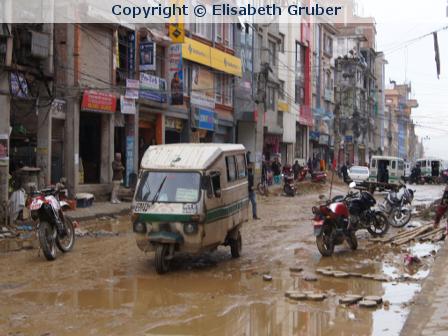 Anekdote aus Nepal: Bei Ankunft Schock