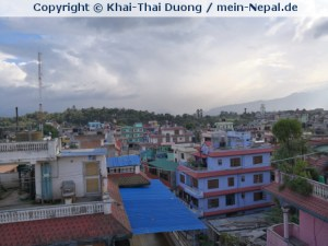 Bunte Häuser in Nepal