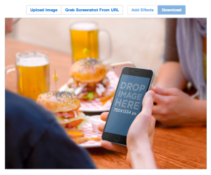 Placeit makes it easy to add your product directly into the photograph before you license it.