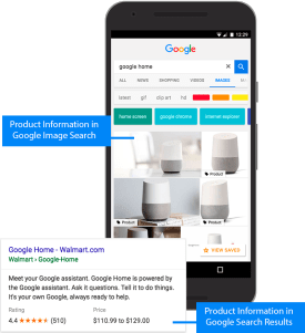 Google image search already promotes products on mobile