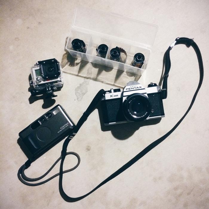GoPro Hero 3, Contax T2, Pentax K1000, Portra 400