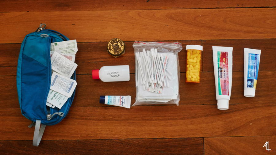 packing list, first aid kit
