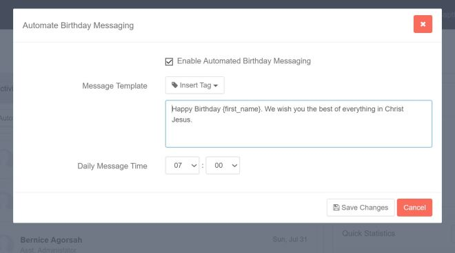 Automated Messaging Dialog